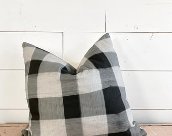 Made to order - 20x20 Black Plaid Pillow