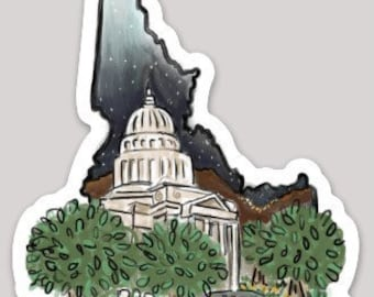Idaho Sticker - Boise / Capitol Building / State Capital