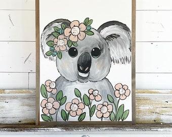 Koala in Flowers