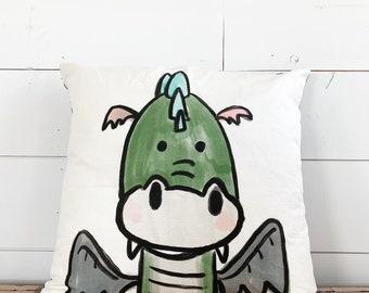 20x20  Pillow - Dragon /Black Plaid Back