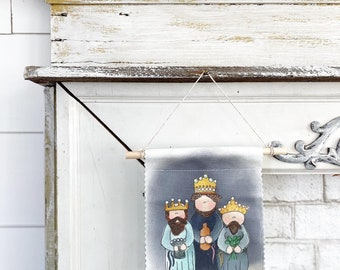 Three Kings - Banner/Wall Hanging/ Pennant