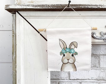 Ready to ship - Bunny Rabbit  - Banner/Wall Hanging/ Pennant