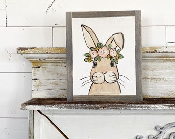 Rabbit with floral crown
