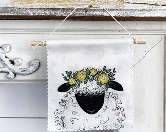 Sheep - Banner/Wall Hanging/ Pennant