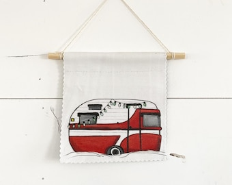 Winter Trailer - Banner/ Wall Hanging/ Pennant