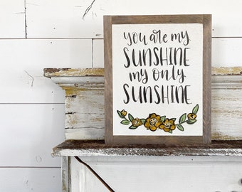 You are my sunshine - yellow floral