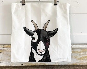 20x20 Pillow Cover | Goat
