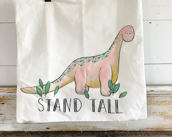 20x20 Pillow Cover | Brontosaurus- Stand Tall