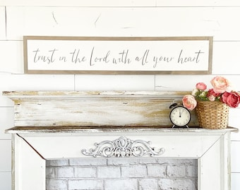 Trust in the Lord with all your heart  - 6x36