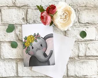 Elephant - Blank Greeting Card