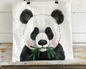 20x20 Pillow Cover | Panda Bamboo