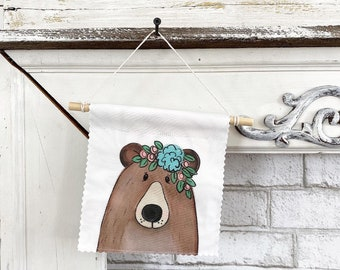 Ready to ship - Bear Banner/Wall Hanging/ Pennant