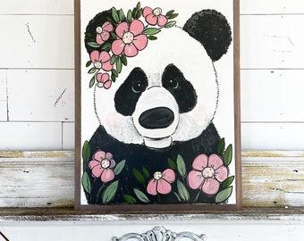 Panda in Flowers