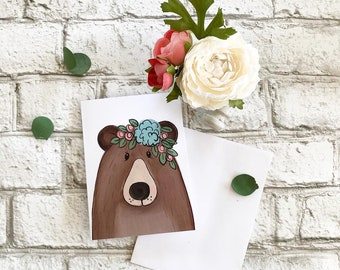 Bear - Blank Greeting Card