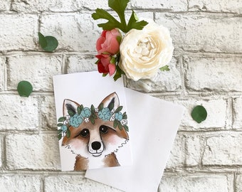 Fox - Blank Greeting Card