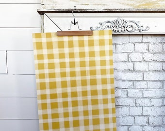 Gift Wrap - Mustard Yellow Gingham