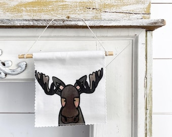 Ready to ship - Moose - Banner/Wall Hanging/ Pennant