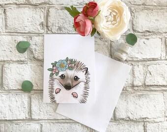 Hedgehog - Blank Greeting Card