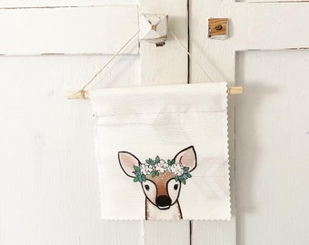 Ready to ship - Deer - Banner/Wall Hanging/ Pennant