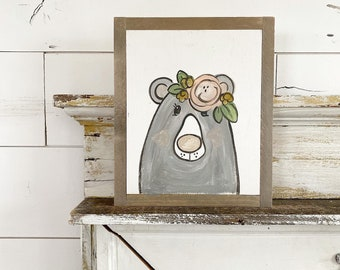 Bear with Floral Crown