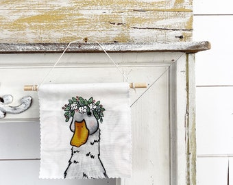 Ready to ship - Goose or Duck - Banner/Wall Hanging/ Pennant