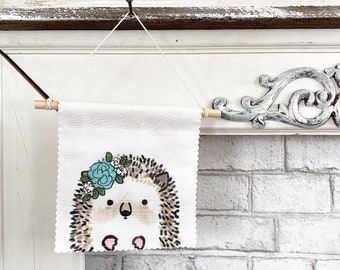 Hedgehog Banner/Wall Hanging/ Pennant