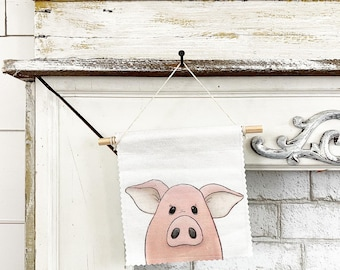 Pig - Banner/Wall Hanging/ Pennant