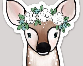 Deer Fawn Sticker