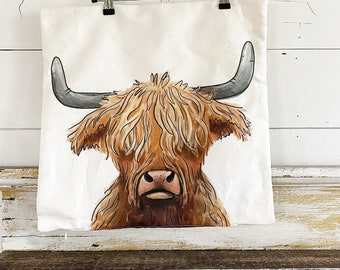 20x20 Pillow Cover | Highland Cow