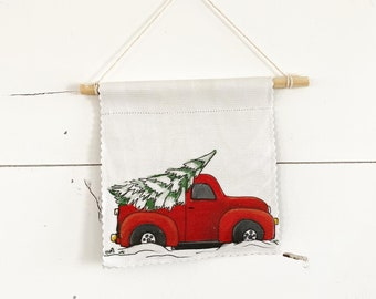 Winter Pick-up - Banner/ Wall Hanging/ Pennant