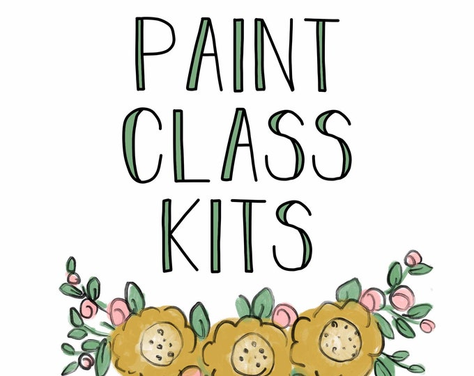 Featured listing image: Fall - Paint Class Kit + Online Class
