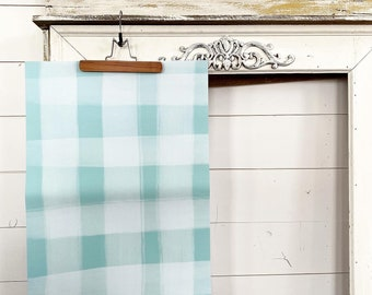 Gift Wrap - Turquoise Plaid Check