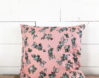 20x20 Little Pink Floral Arrow Pillow