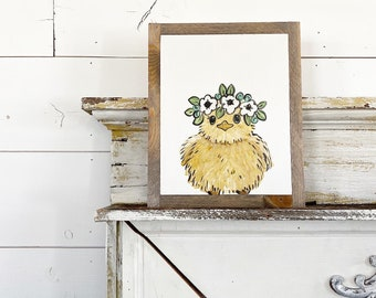 Baby Chick with Floral Crown