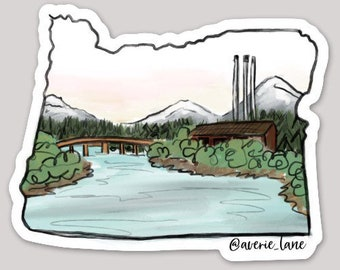 Oregon Sticker - Deschutes River/Bend