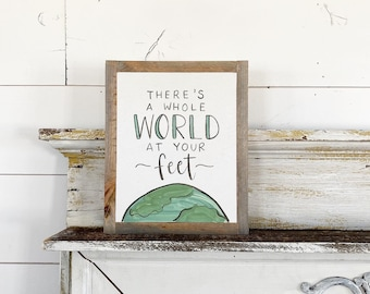 Ready to ship -  There's a whole world at your feet
