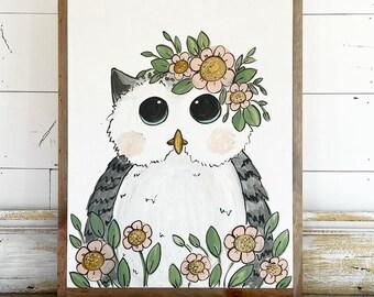Owl in Flowers
