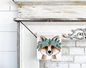 Fox - Banner/Wall Hanging/ Pennant