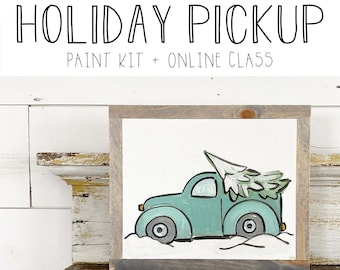 Holiday Pickup - Paint Class Kit + Online Class