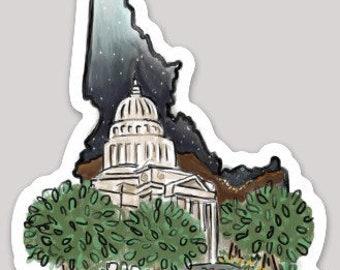 Idaho Sticker - Boise / Capitol Building / State Capital
