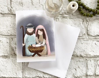Nativity   - Blank Greeting Card