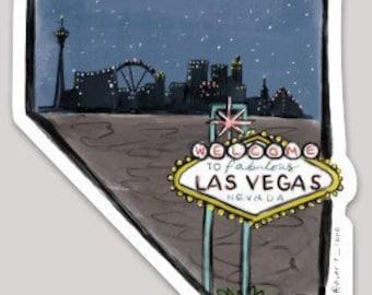 Nevada Sticker - Las Vegas