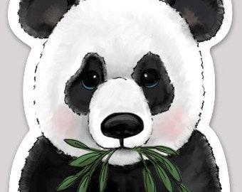 Panda w Bamboo Sticker