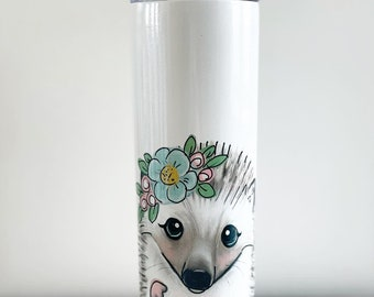 Hedgehog with Flowers