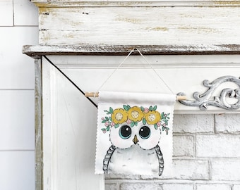Owls - Banner/Wall Hanging/ Pennant