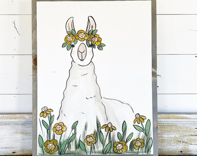 Featured listing image: Llama in Flowers