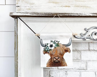 Highland Cow - Banner/Wall Hanging/ Pennant