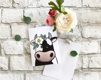 Cow - Blank Greeting Card