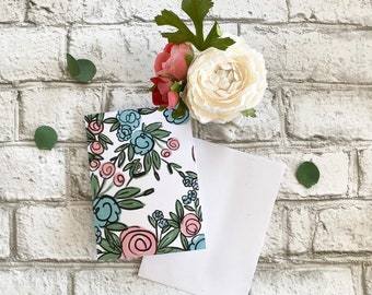 Averie Floral - Blank Greeting Card
