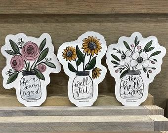 Floral Jar Sticker Collection